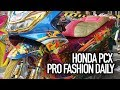 motor kontes honda pcx pro fashion daily keke modified
