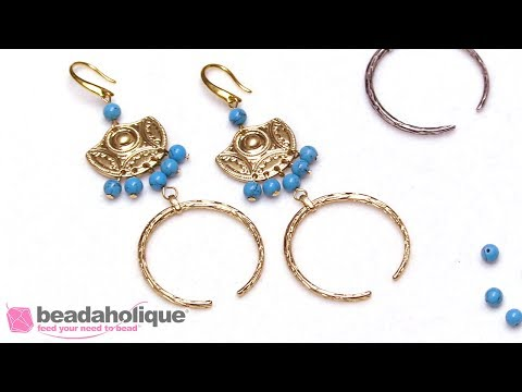 Quick & Easy DIY Jewelry: The Aztec Queen Earrings