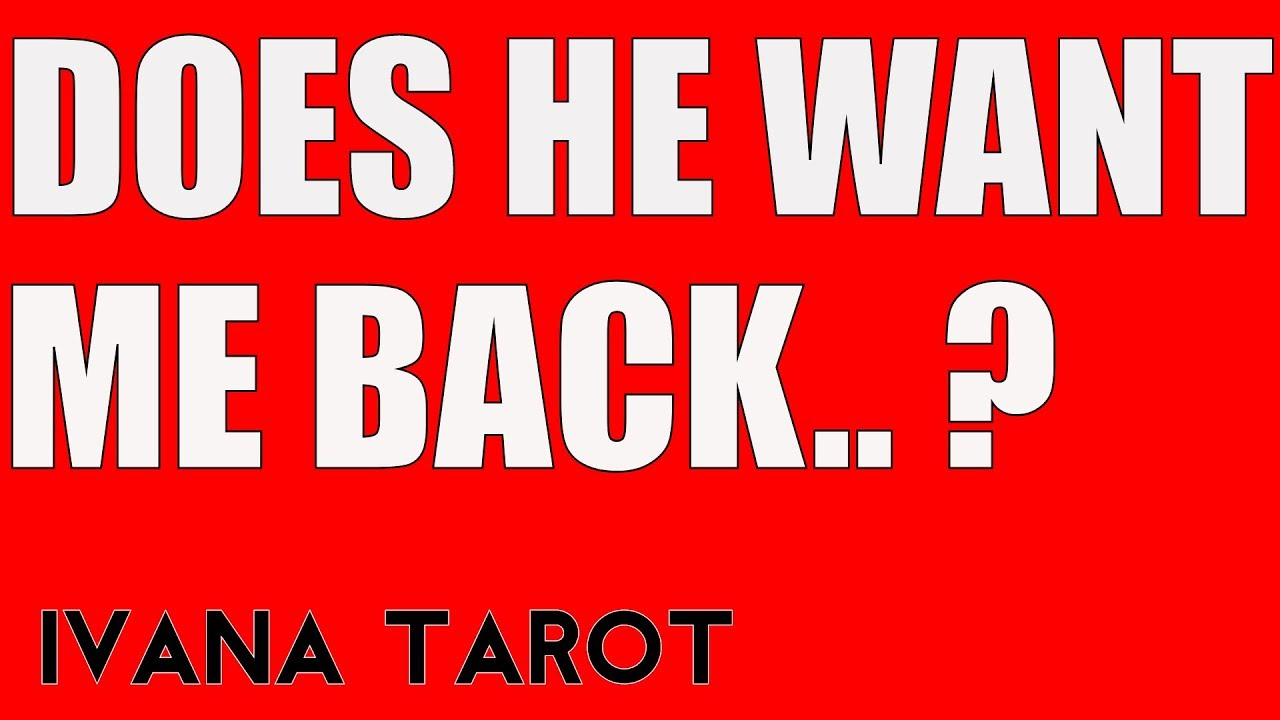 💘 DOES HE WANT ME BACK All 12 Signs Predictions Tarot Reading
