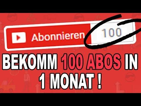 Die ersten 100 ABONNENTEN in weniger als 1 MONAT!! How to get 100 Subscribers [Deusch Tutorial]