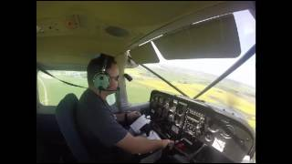 Cessna 172, Solo X-country with ATC audio, CYXE to CJF8