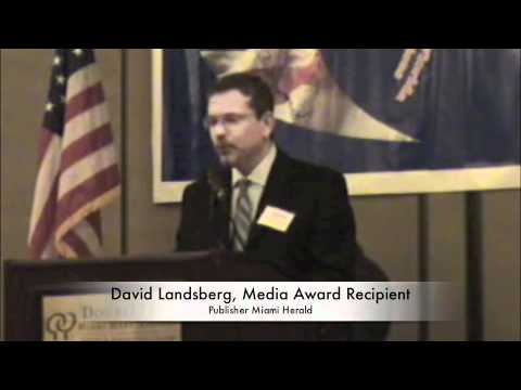 David Landsberg, Publisher Miami Herald, 2011 COSMOS-Media Award Recipient