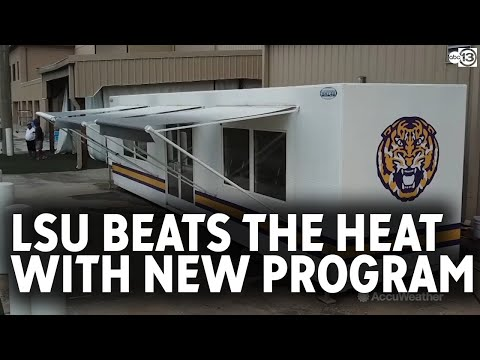 LSU Football Program Uses Body Recovery Zone For Heat Safety