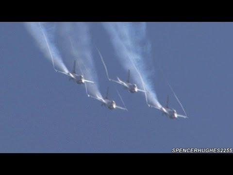 U.S.A.F. Thunderbirds - 2012 March ARB Airfest (Fri. Practice)
