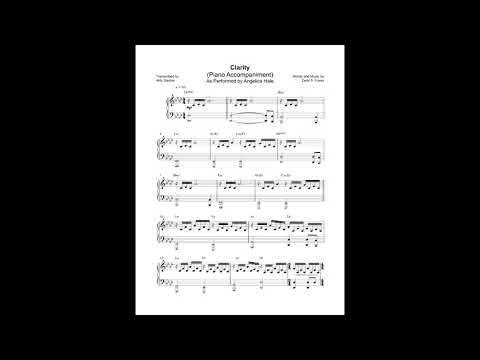 Clarity - Angelica Hale Version (Instrumental) + Sheet music