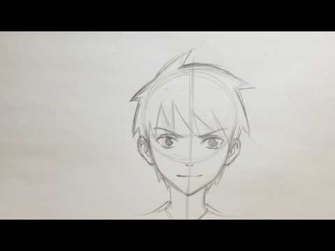 How To Draw Anime Boy Face [No Timelapse]
