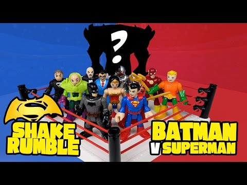 Batman V Superman Shake Rumble With Imaginext Batman Toys And Justice League Toys By KidCity