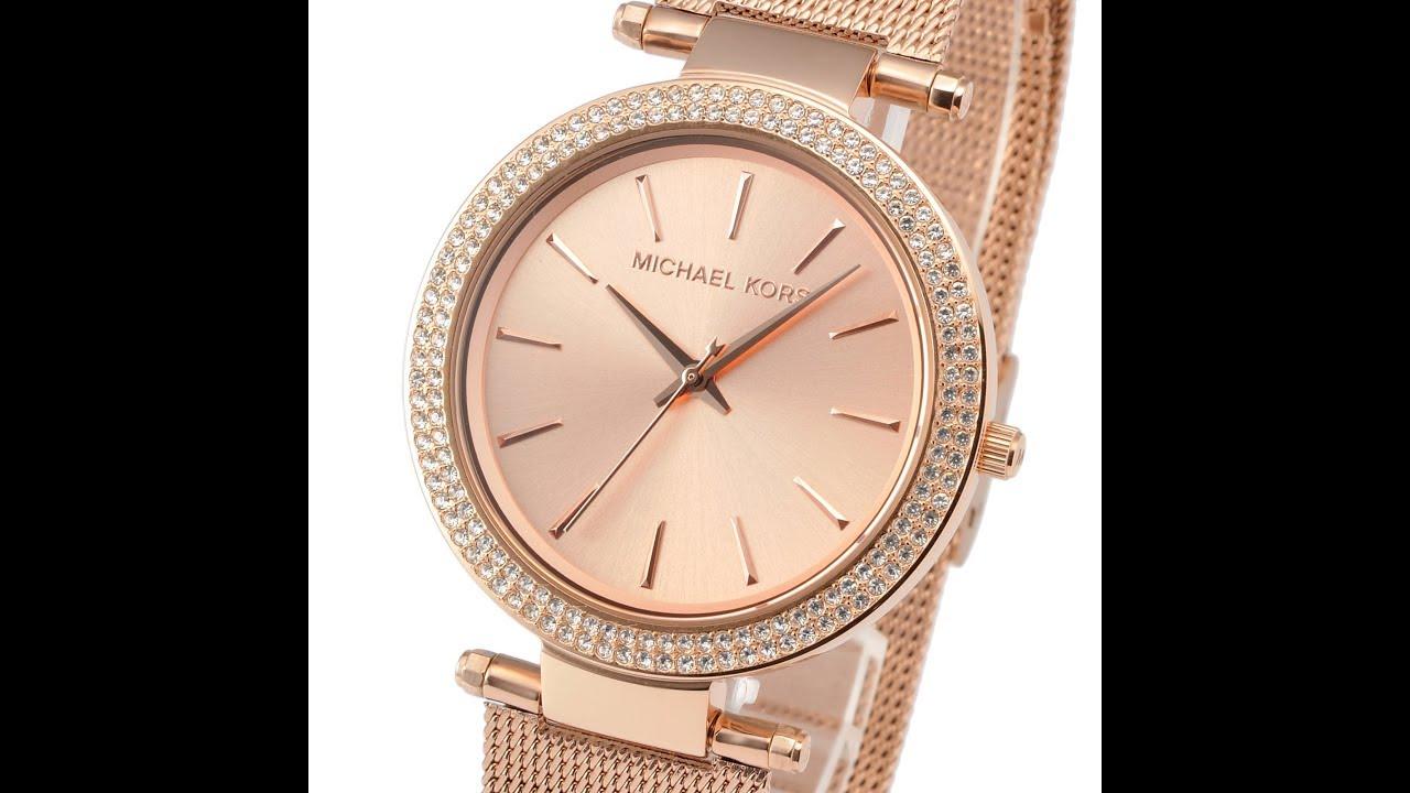fe0e7d4c299f NEW MICHAEL KORS MK3369 LADIES WATCH DARCI ROSE GOLD TONE マイケル・コース ダルシー  ローズゴールド レディース腕時計