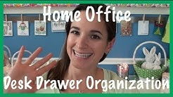 Home Office: Desk Drawer Organization