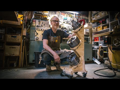 Adam Savage's One Day Builds: Lathe Chuck Rolling Rack!