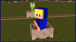 *Minecraft*como andar com mine Card sem trilho ? Tutorial