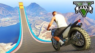 gta v online a mega rampa maluca com motos pico