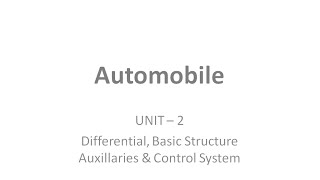 Automobile Unit - 2 || Mechanical Engineering Automobile books || PPT