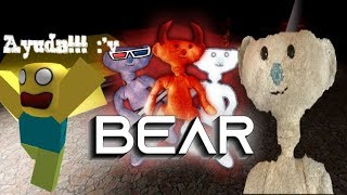"""Escaping the evil bear in ROBLOX!!! """"Banano_YT"""""""