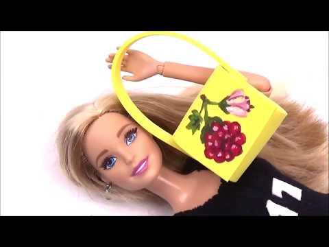 Bag for Barbie diy  │ Easy doll purse tutorial │ Diy bag for Barbie doll