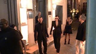 EXCLUSIVE :  Bella Hadid, Karlie Kloss and Hailey Baldwin party together in Paris