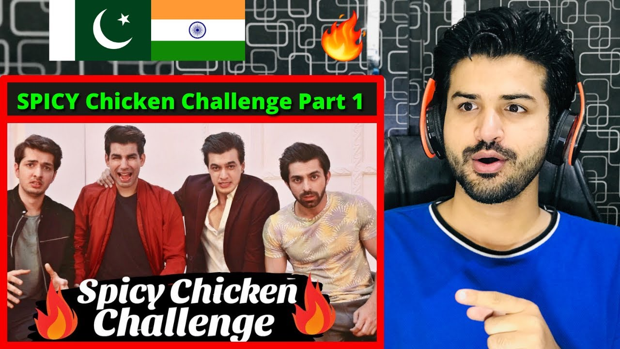 Pakistani React on Rimorav Vlogs SPICY Chicken Challenge Part 1 With Mohsin Khan   Reaction Vlogger
