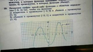 38 Алгебра 9 класс Начертите график функции