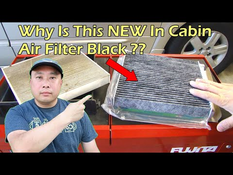 WHY IS THE IN CABIN AIR FILTER BLACK??