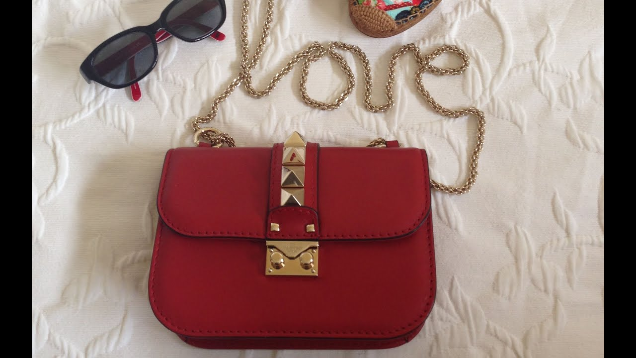 Reveal:Review Valentino Rockstud Lock Flap bag -small 2014 - YouTube