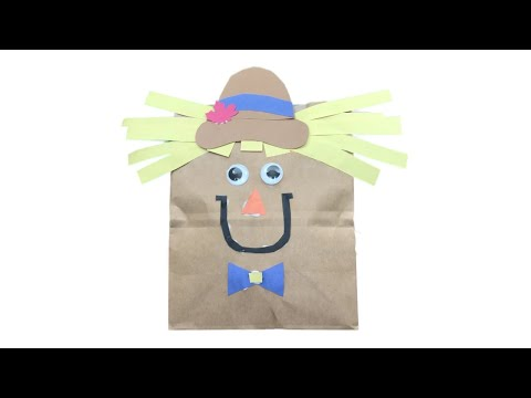 How to Make a Friendly Paper Bag Scarecrow Craft | Craft Tutorial