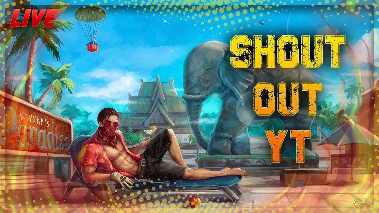 shout out YT on live#telugugaming#pubgmobile emulator live stream in telugu #freetournament