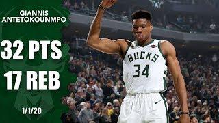 Giannis Antetokounmpo notches double-double in Bucks vs. Timberwolves | 2019-20 NBA Highlights