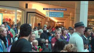 200 shoppers break out In song at Portland mall