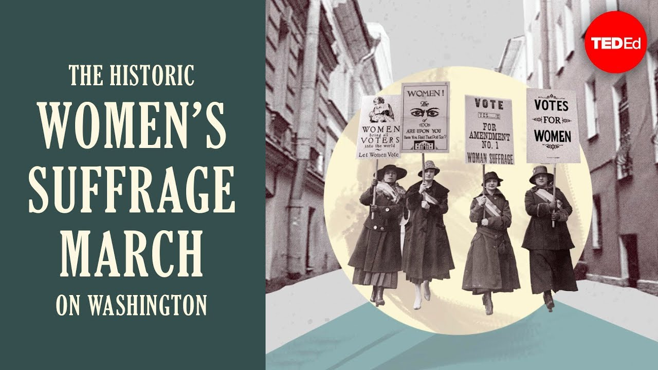 Historic Photo Print Woman With Suffrage Sign