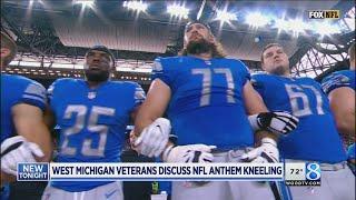 Disrespect or free speech? Vets on kneeling for anthem