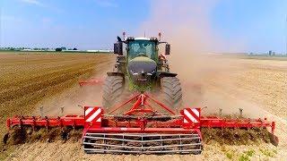 Preparing Seedbed | FENDT 1050 + Steketee Supersprint | JD 6125R Seeding Maize | Immink Amstelveen