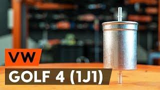 Kā nomainīt VW GOLF 4 (1J1) degvielas filtrs [AUTODOC VIDEOPAMĀCĪBA]