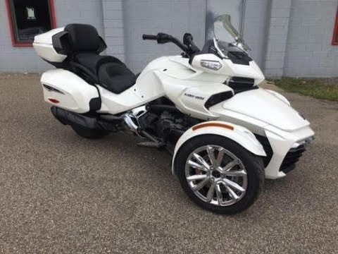 new 2018 can am spyder f3 limited pearl white 1544 new. Black Bedroom Furniture Sets. Home Design Ideas