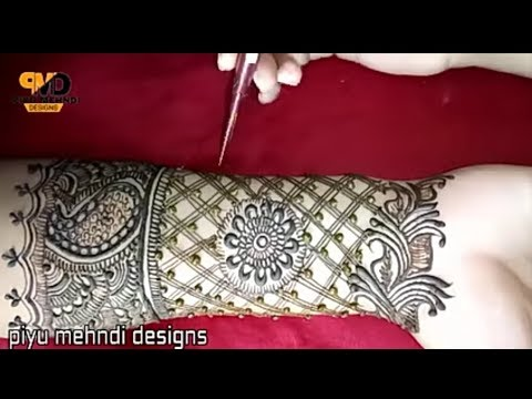 latest mordern bridal henna mehndi design for full hands | 2018