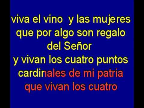 Viva el Vino y las Mujeres  -  Manolo Escobar -  karaoke   Tony Ginzo