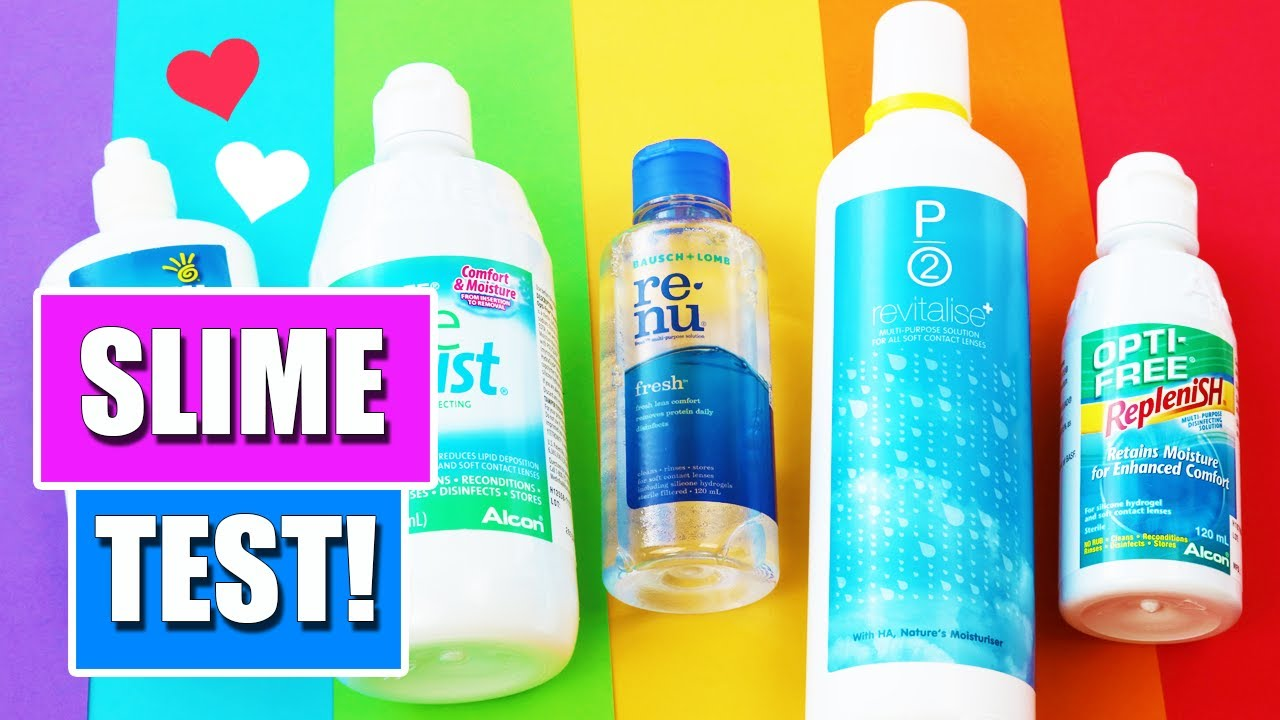 slime test which contact lens solution is the best to make