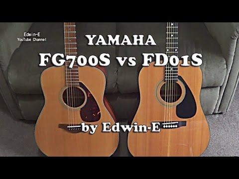 Guitar Comparison: Yamaha FG700S vs FD01S Acoustic Guitars