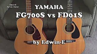 guitar comparison yamaha fg700s vs fd01s acoustic guitars