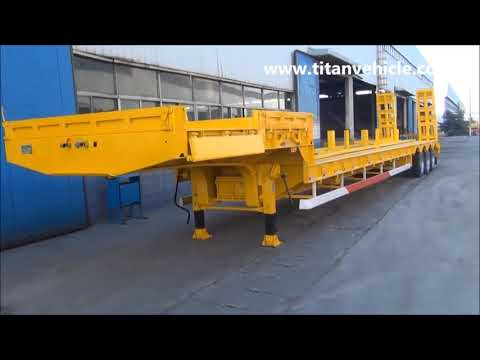 Widely used heavy equipment lowbed 3 axle ship transport 60 ton modular low deck semi-trailer