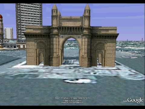 Gateway of India -3D View - Flyover Bombay