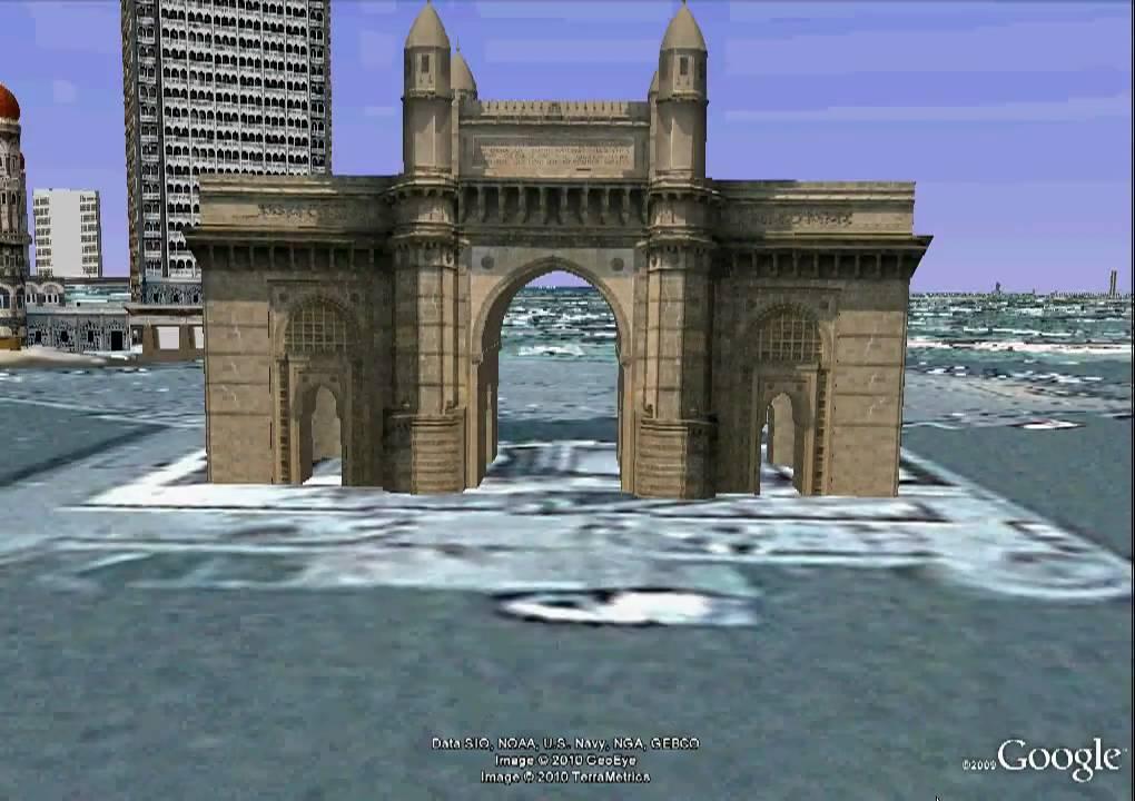 Taj Mahal Hd Wallpaper Gateway Of India 3d View Flyover Bombay Youtube