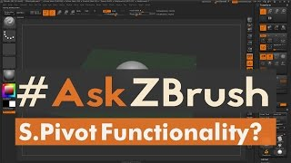 """#AskZBrush: """"When I use S.Pivot objects sometimes are not centered to the world?"""""""
