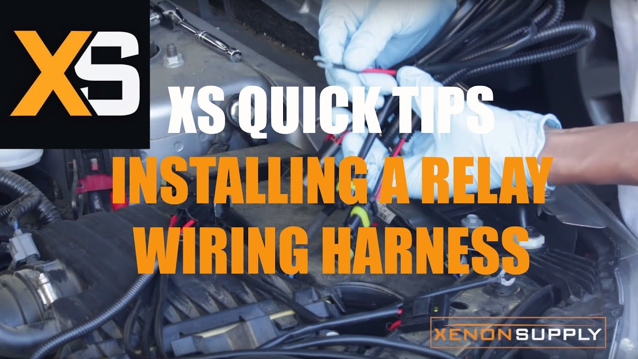xs hid quick tips installing an hid relay wiring harness [ 1280 x 720 Pixel ]