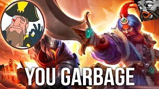 Tobias Fate - CLEAN GANGPLANK SMASHING THE GARBAGE YASUO | League of Legends
