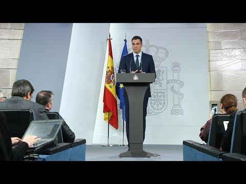 Declaración institucional del presidente del Gobierno sobre Venezuela