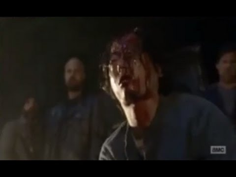 The Walking Dead 7x01 - Negan kill Glenn Scene (Glenn Death)