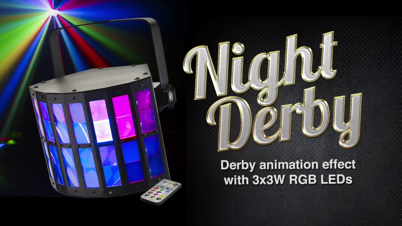 Night Derby Derby Animation Effect With 3 Rgb Leds By Contest Light Dj