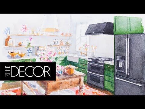 Family Style Dream Kitchen | Elle Décor + GE Appliances