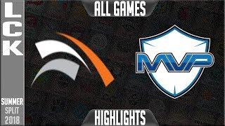 Video HLE vs MVP Highlights ALL GAMES | LCK Summer 2018 Week 7 Day 3 | Hanwha Life Esports vs MVP download MP3, 3GP, MP4, WEBM, AVI, FLV Agustus 2018
