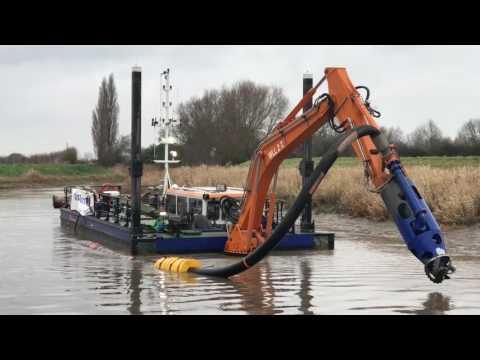 River Parrett Dredging Trials 2016